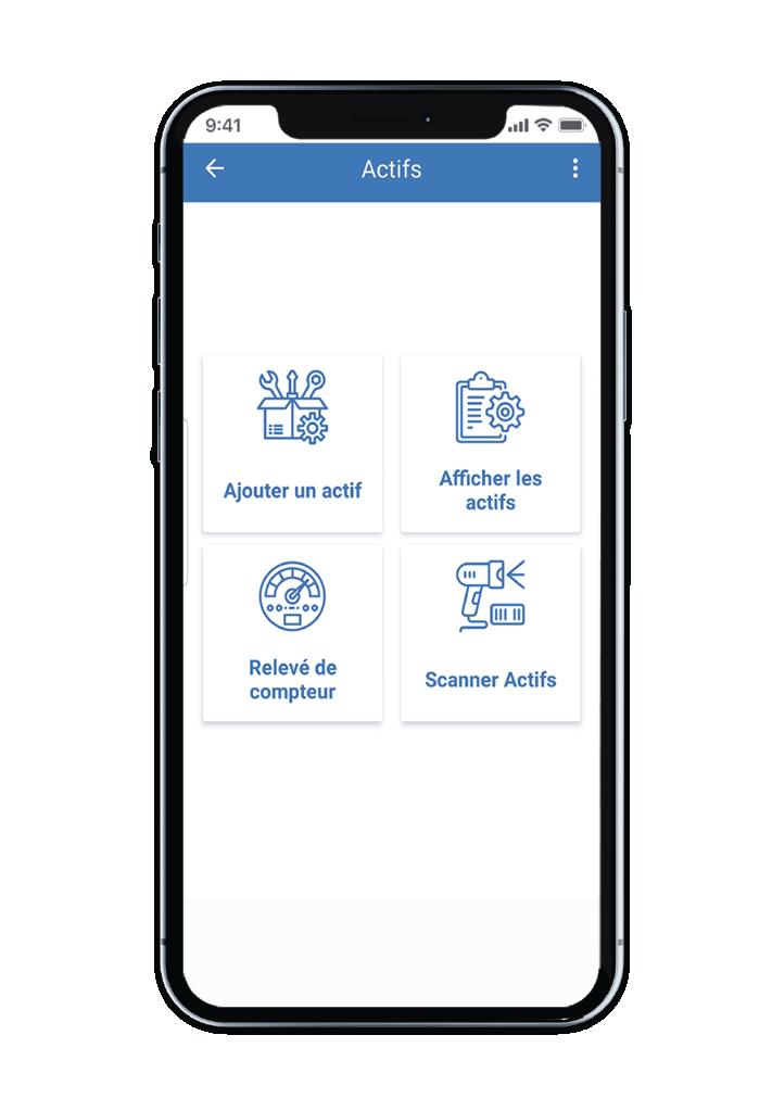 écran Actif du Smart Maximo Mobile application